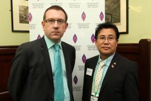 Andrew Gwynne MP and Sokphal Din survivor of the genocide in Cambodia